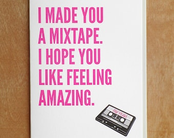 Mix Tape Letterpress Card