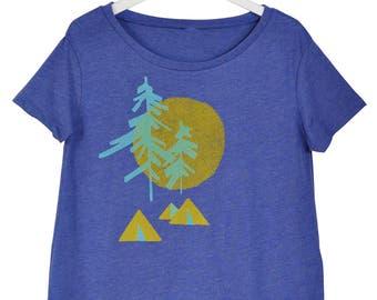 Camping Print Flowy Shirt