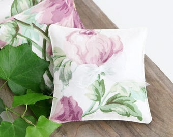 Pair of Lavender Sachets, Floral Cottage Decor, Scented Drawer Sachets