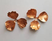 Vintage copper brass flower findings