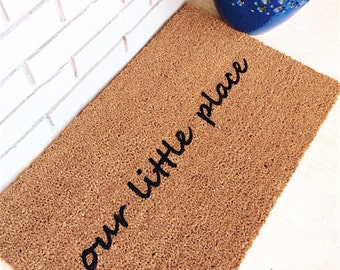 our little place. Natural CoCo Fiber Modern Tagged Outdoor Welcome Mat Custom Doormat