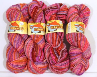 ColorMix Aran Singles - FLOWER SHOP - Aran Wool Yarn - Hand dyed gradient striping yarn, painted ombre shawl scarf knitting crochet