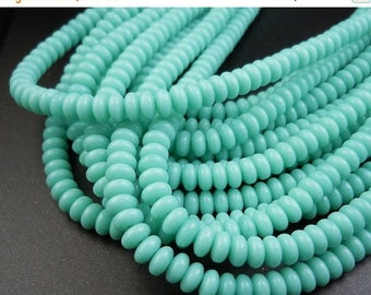 25% OFF Czech Spacer Beads - Czech Glass Beads - 4mm Smooth Spacer - Turquoise - 100 pcs (G - 151)