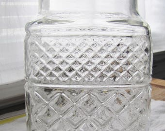 Canister / Glass / Wexford / Vintage / Square