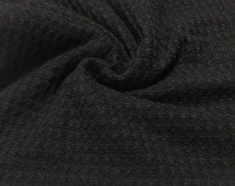 Waffle Weave  Knit Fabric 2-1/4 Yards
