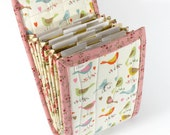 Circular Needle Case - Little Birds - Needle Holder Needle Wallet Circular Needle Organizer