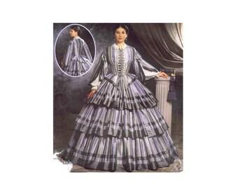 Civil War Dress Martha McCain Fashion Historian Simplicity 9761 Sewing Pattern Size 6 - 8 - 10 - 12 UNCUT