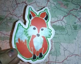Woodland Fox Sticker-Vinyl