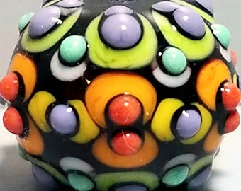 MIghty Mini  --Handmade Lampwork Glass Bead