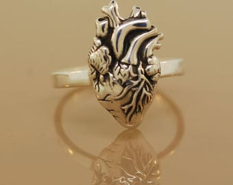 For Joselyn Anatomical Heart Ring with engraving