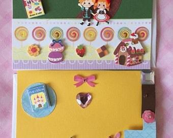 Adorable Kawaii FairyTale Greeting Cards Blank inside Handmade