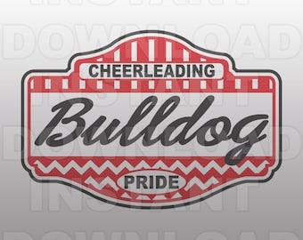 Bulldog Pride Cheerleading Vector Art SVG File,INSTANT DOWNLOAD,for use Silhouette Designer Edition and Cricut Design Space