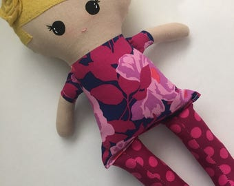 Funky Fabric Doll, blonde hair