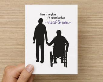 There's No Place I'd Rather Be Than Next To You Recycled Paper Folded Greeting Card