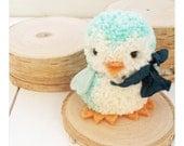 Handmade Pom Pom Baby Penquin Plush Toy, Winter Decor, Birthday, Baby Shower Decor, Gift Topper, Arctic Animal, Marine Animal
