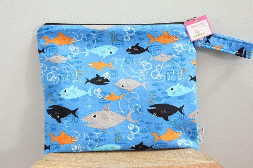 Wet Bag Wetbag Diaper ICKY Proof Shark Fish Sea Gym Swim Cloth Accessories Zipper Gift Newborn Baby Child Kids Summer