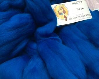 Royal 4oz Merino Wool Top Roving Spinning/Felting/Blending