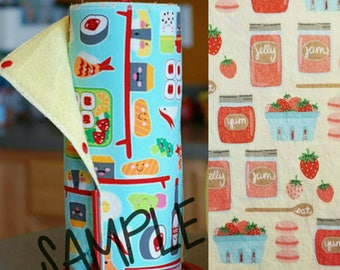 Unpaper Towel | Reusable Paper Towel - Berry Jam Tree Saver Towel | Kitchen Towel | Snapping Cloth Paperless Towel