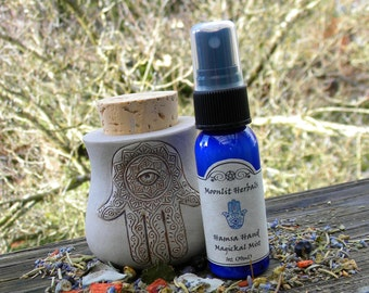 Hamsa Magickal Mist - Energetic Protection, Shielding, Warding, Deflecting the Evil Eye, Hand of Fatima, Blessing, Pagan Supplies, Wicca