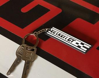 Detroit GT keychain design