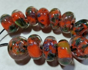 Lampwork Borosilicate Beads PUMPKIN PATCH Two Sisters Designs 102316C