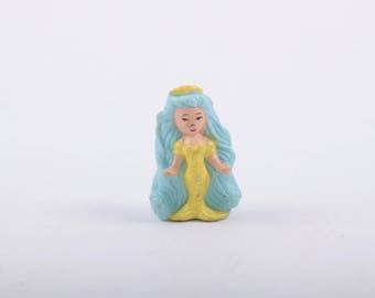 Polly Pocket, Mermaid, Paint Rubs, Blue Hair, Green, Crown, Vintage, Doll, Collectible ~ The Pink Room ~ 161218