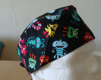 Monster Mash Classic Style...................Surgical Scrub Hat...Chemo Hat...Chefs Hat