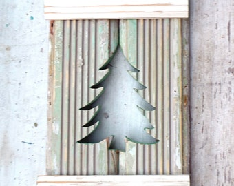 Christmas Tree Decor, Holiday Wall Art, Reclaimed Wood Decor, Christmas Wall Art, Wooden Wall Decor, Rustic Christmas Decor, Xmas Decor