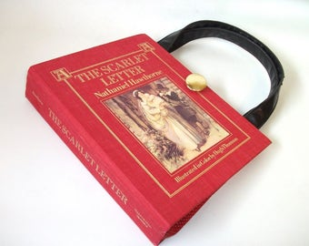 The Scarlet Letter Book Purse, Upcycled Handbag made from a book, Recycled Bag Nathaniel Hawthorne