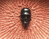 40mm Black Resin Skull Bead with Vertical 3mm Hole