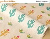 Japanese Fabric Cactus Flowers - natural - 50cm