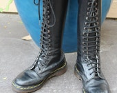vintage black leather DOC MARTEN boots