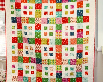 Baby Quilt Pattern.....Lap Quilt or coverlet pattern...Layer Cake and Fat Quarter friendly, .., City Blocks