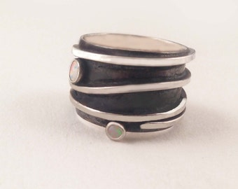 Sterling Opal Ring by donnaodesigns
