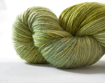 """Anglophile BFL fingering yarn in """"Pickle Juice"""" from AnniePurl"""