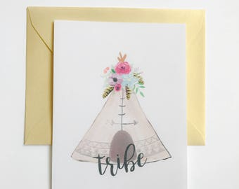 Greeting Card - Tribe