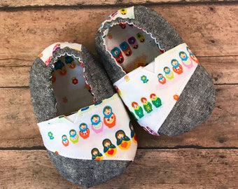 Toms Inspired Baby Shoes : 12 - 18 months