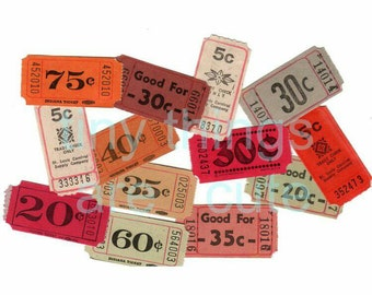 26 x Assorted Vintage Tickets