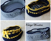 "Large Moses Basket Crochet Pattern - 18"" to 20"" Doll - Easter - Newborn Photo Prop - Basket Crochet Pattern - KrissysWonders"