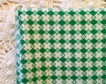 Pair of Vintage Floursacks - Bright Green - Petite Design - Fabric for Projects - Crafting and Sewing - Vintage Fabric
