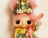 Rabbit Queen Ooak   art doll