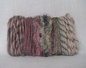 Yarn Bundle Pink Gray Metallic Art Fiber Supplies 1479