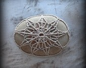 Lace Stone, Crocheted, Mocha Thread, Table Decorations, Original, Handmade, Home Decor, Star, Monicaj