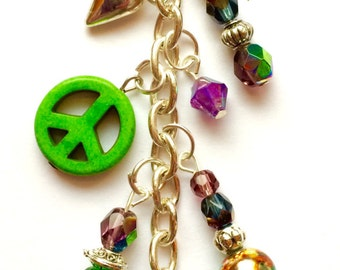 Peace Love & Buddha Beaded Planner Charm * Planner Decoration*