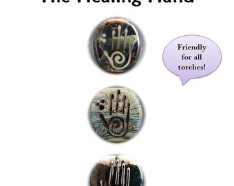 SALE Naos Glass - The Healing Hand - Lampwork Tutorial Pdf File - How To DIY - Handmade lampwork beads SRA