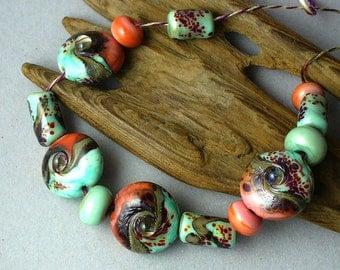 Handmade Glass Lampwork Beads by Catalinaglass SRA  La Playa
