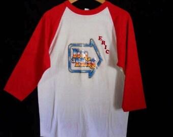 vintage baseball  tee t shirt    1970s      funny      ERIC