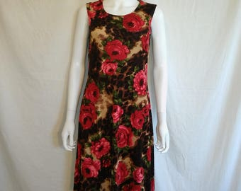 90s  floral roses  cheetah  ribbed  dress, dress, grunge, punk, rockabilly 90s