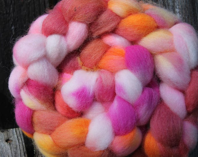 Kettle Dyed Cheviot Wool Top.  Easy to spin. 4oz  Braid. Spin. Felt. Roving. C204
