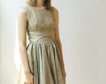Sale- gold lurex party dress